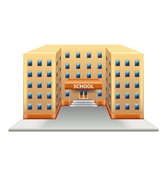School building isolated on white vector image