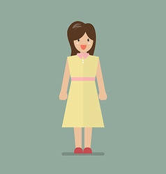 Woman in flat style vector image