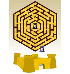 Castle labyrinth vector