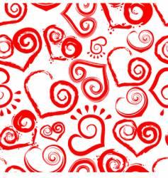 heart shape pattern vector image