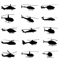 helicopter set vector image vector image