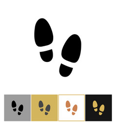 shoe step print icon shoes footstep sign or vector image