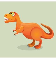 Tyrannosaurus tyrant lizard isolated on white vector image