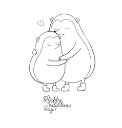 A couple of cute cartoon hedgehogs Funny animals vector image