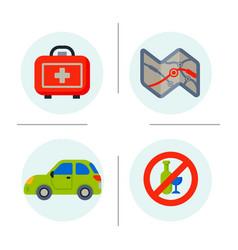 auto transport motorist icons symbols change vector image vector image