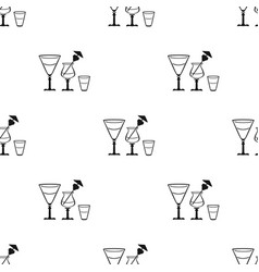 cocktails icon in black style isolated on white vector image