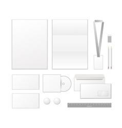 Corporate identity template design Business set vector image