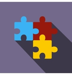Puzzle icon flat style vector image