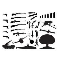 weapon vector image