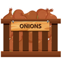 A crate of onions vector