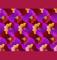 African wax print fabric ethnic overlap ornament vector