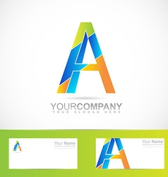 Alphabet letter A logo vector image