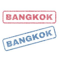 Bangkok textile stamps vector