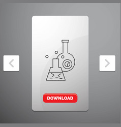 beaker lab test tube scientific line icon in vector image