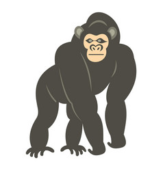 bonobo monkey icon isolated vector image
