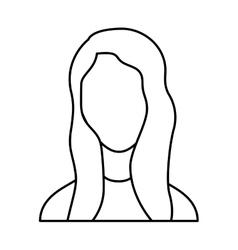 Businesswoman avatar line icon vector