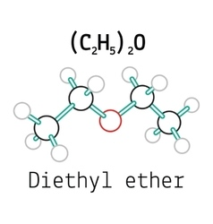 C4H10O diethyl ether molecule vector