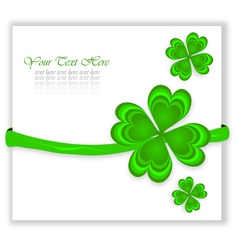 certificate with lucky clovers vector image