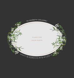 child greeting card floral elements bashower vector image
