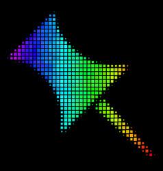 Colored dot pin icon vector