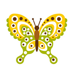 colorful butterfly with open wings vector image