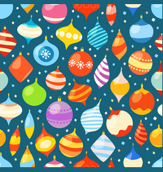 different christmas bauble seamless pattern vector image vector image
