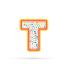 Dots and letter t logo with circles and dots vector