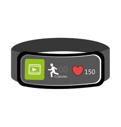 Electronic watch with workout settings vector