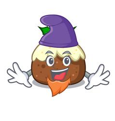 Elf fruit cake character cartoon vector