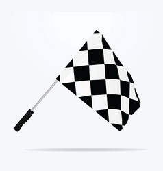 finish line flag vector image