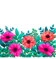floral template tropical flowers trendy summer vector image