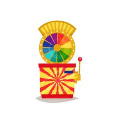 Fortune wheel retro arcade game machine vector