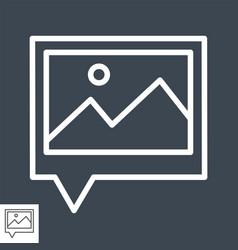geo tag photos line icon vector image