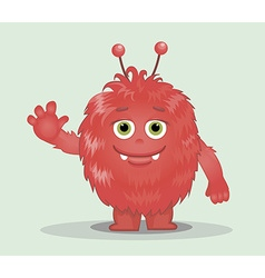 Good red furry monsters 8 vector image