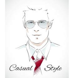 Handsome businessman portrait vector