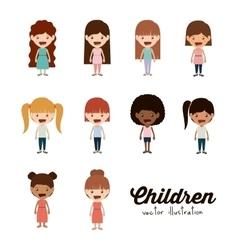happy children design vector image vector image