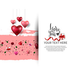 I love you concept with love element hanging vector