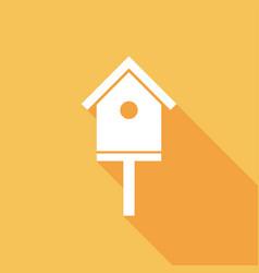 Icon bird-house with a long shadow vector