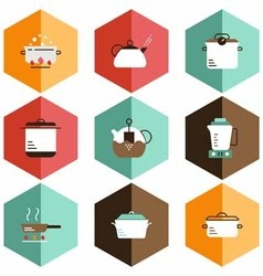 Icons cookware vector