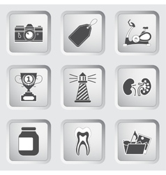 Icons on the buttons for Web Design Set 9 vector image