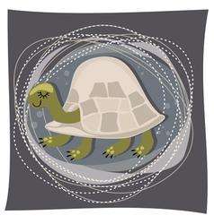 Little turtle artwork vector
