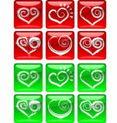Love heart icons vector