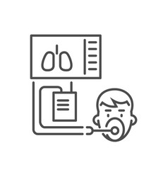 Medical ventilator related thin line icon vector
