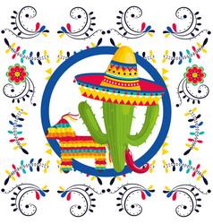 Mexican culture cartoon vector
