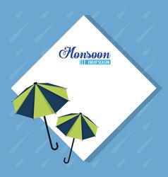 Monsoon end of season vector