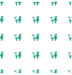 Mother and son icon pattern seamless white vector