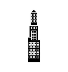 office tower black icon concept office tower vector image