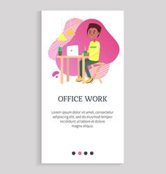 office work organization employee at workplace vector image