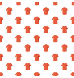 Orange soccer shirt pattern vector