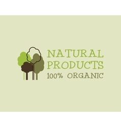Organic eco green logo template Can be used as vector image vector image